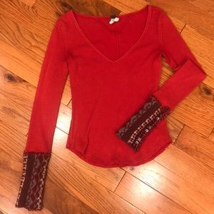 Free people S red thermal